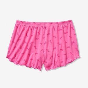 Victoria's Secret pink ruffle sleep shorts